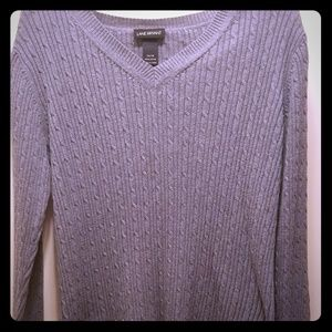 Lane Bryant Sweaters - Lane Bryant Gray Sweater- ribbed-Size 14/16
